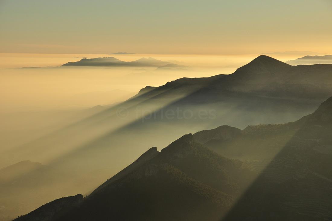 Sunset Sierra del Cid - Fine Art Photography Alicante