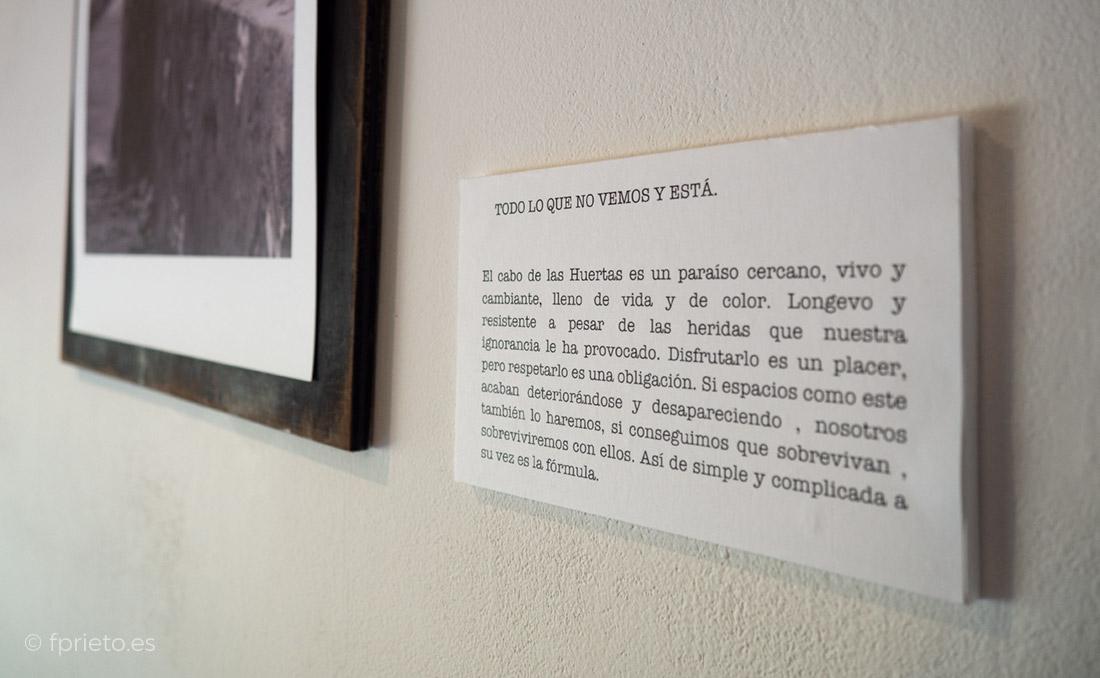 Exposición fotográfica de Antonio Soler sobre el Cabo de la Huerta de Alicante