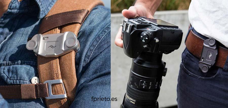 soporte mochila camara fotos peak design