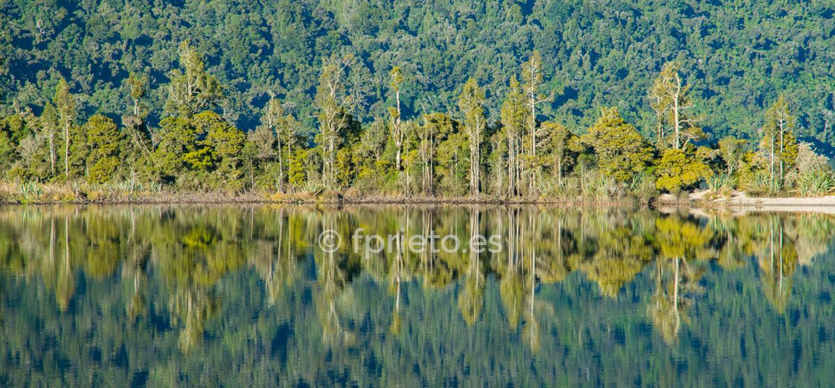 reflejos en el lago - Nueva Zelanda